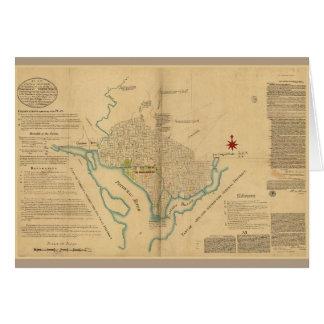 Carte de DC de Washington (1791)