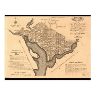 Carte de DC de Washington (1886)