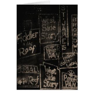 Carte de ~ de Broadway