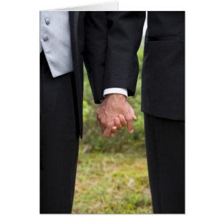 Carte de deux mariés