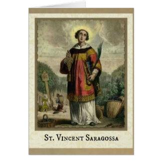 Carte de diacre et de martyre de St Vincent