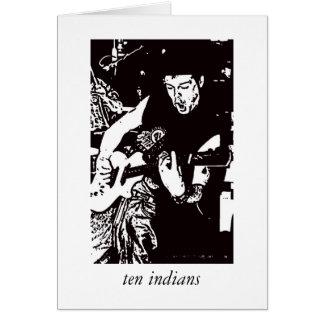 carte de dix Indiens