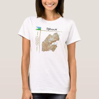 Carte de Djibouti + Drapeau + T-shirt de titre