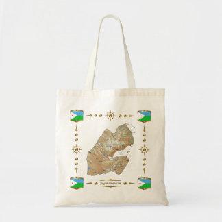 Carte de Djibouti + Sac de drapeaux