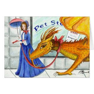 Carte de dragon du jour de mère