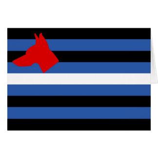 Carte de drapeau de chiot