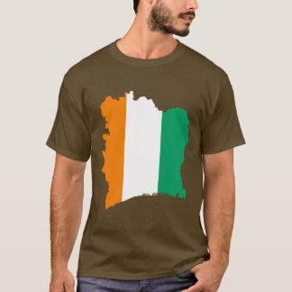 Carte de drapeau de la Côte d'Ivoire T-shirt