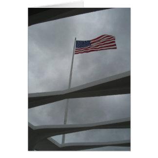 Carte de drapeau de Pearl Harbor