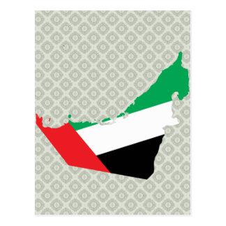 Carte de drapeau des EAU normale