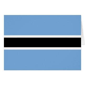 Carte de drapeau du Botswana