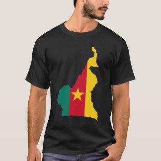 Carte de drapeau du Cameroun T-shirt