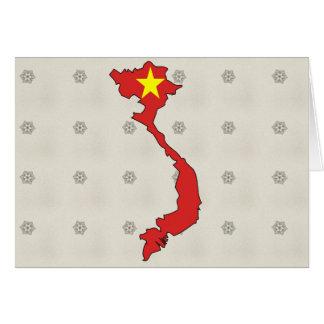 Carte de drapeau du Vietnam normale