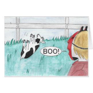 Carte de évanouissement de Halloween de chèvre