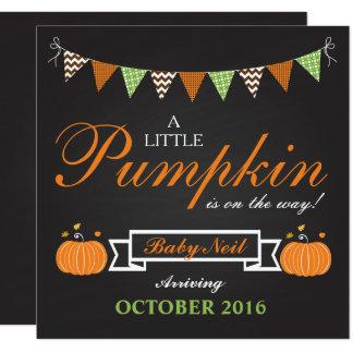 Carte de faire-part de grossesse d'automne de
