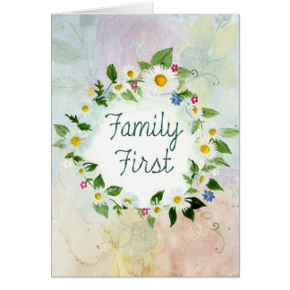 Carte De famille citation inspirée d'abord