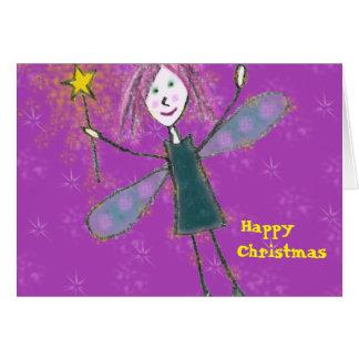 Carte de fée de Noël