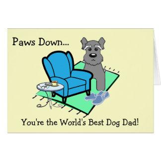 Carte de fête des pères de chien