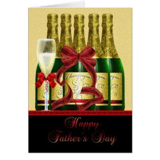 Carte de fête des pères de papa - Champagne