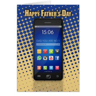 Carte de fête des pères de papa de téléphone
