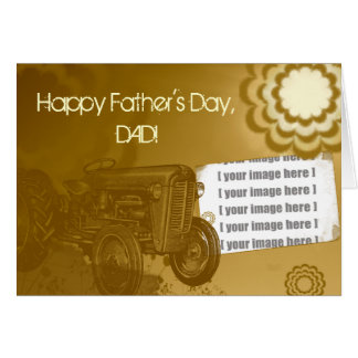 Carte de fête des pères de tracteur : Ajoutez