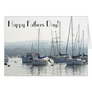 Carte de fête des pères de voiliers