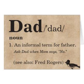 Carte de fête des pères, la définition du papa