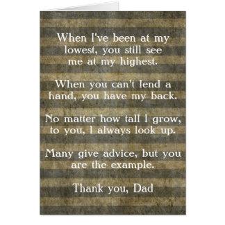 Carte de fête des pères, Merci