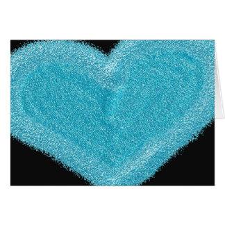 Carte de fiançailles customisée par coeur bleu