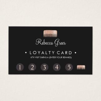 Carte de fidélité de client de poinçon du styliste