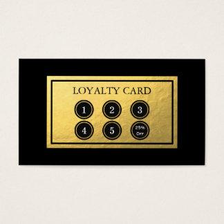 Carte de fidélité de feuille d'or