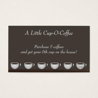 Carte de fidélité de l'épargne de café