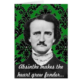 Carte de fond de Valentine de rapport de Poe