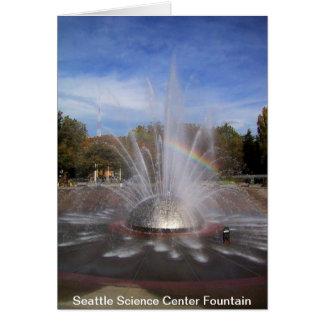 Carte de fontaine de centre de la Science de