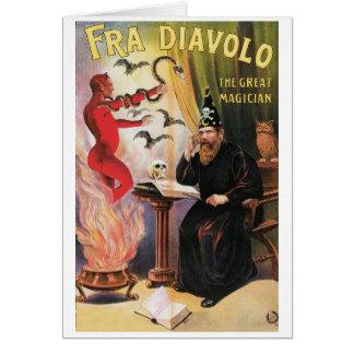 Carte ~ de Fra Diavolo la Loi magique vintage de grand