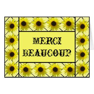 Carte de French Le Tournesol Remercient De