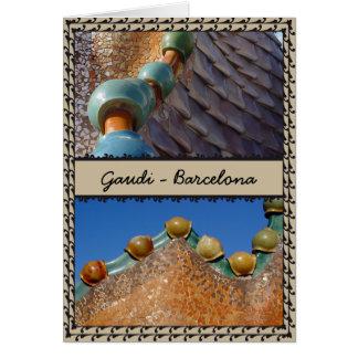 Carte de Gaudi Barcelone