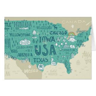Carte de griffonnage des Etats-Unis