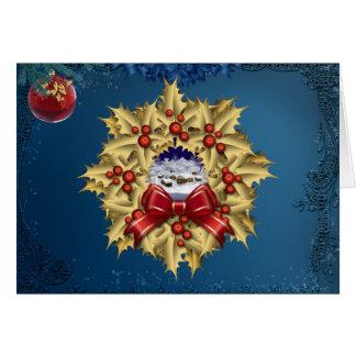 Carte de guirlande de village de Noël