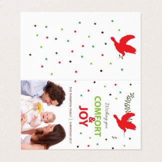 Carte de Holidayz de confort et de joie