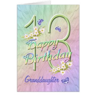 Carte de jardin de papillon d'anniversaire de