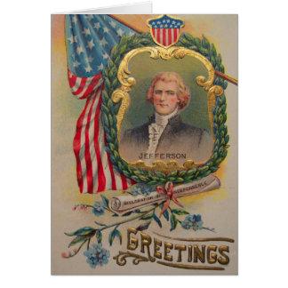 Carte de Jefferson 4 juillet