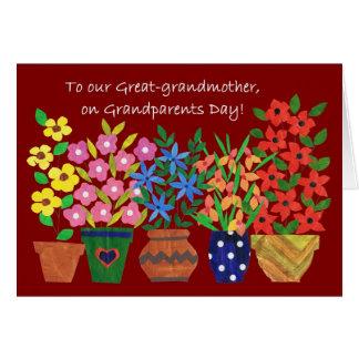 Carte de jour de grands-parents pour l'arrière