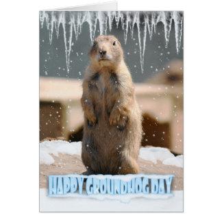 Carte de jour de Groundhog, jour de Groundhog
