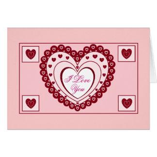 Carte de JOUR de VALENTINES