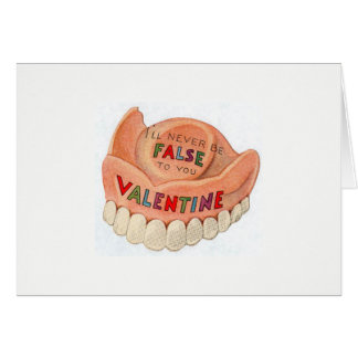 Carte de jour de Valentines de dents fausses