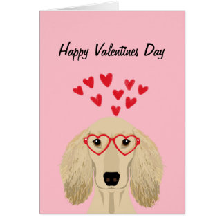 Carte de jour de Valentines de teckel de Doxie