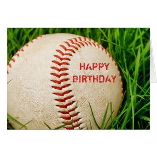 Carte de joyeux anniversaire de base-ball