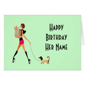 Carte de joyeux anniversaire de fille d'achats