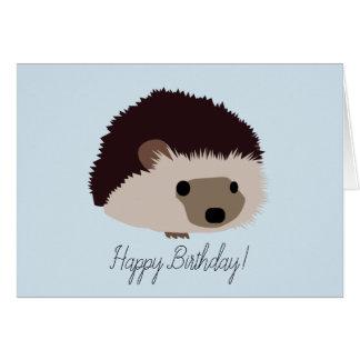 Carte de joyeux anniversaire de hérisson