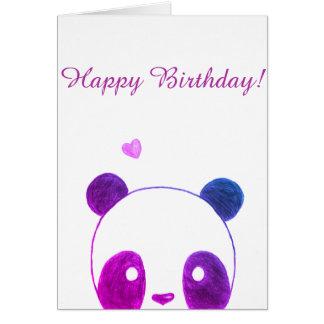 Carte de joyeux anniversaire de panda